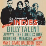 Billy Talent Headlines 2015 SiriusXM Indies