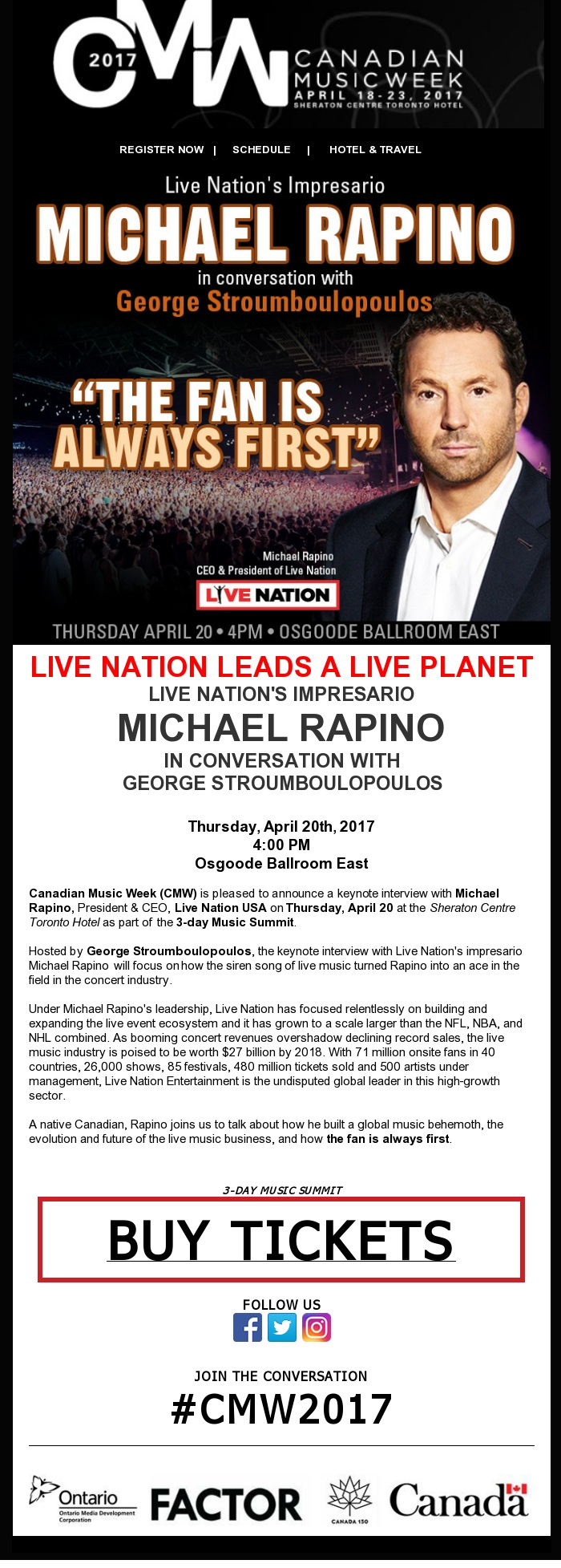 CMW - Michael Rapino