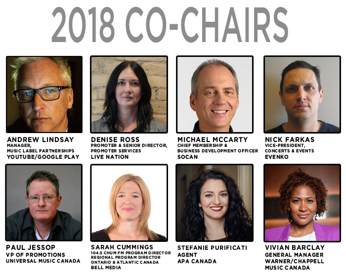 Co-Chair Committee Announced! | CMW 2018 | May 7 – 13, Toronto ON