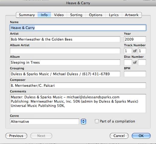 MP3 Metadata Model