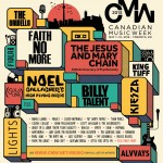 Canadian Music Week Announces Headlining Performers Featuring The Jesus And Mary Chain, Faith No More, Kiesza, GoldLink, Billy Talent, Noel Gallagher's High Flying Birds and more!