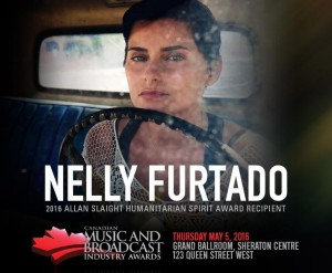 CMW Announces Nelly Furtado as 2016 Recipient of the Allan Slaight Humanitarian Spirit Award