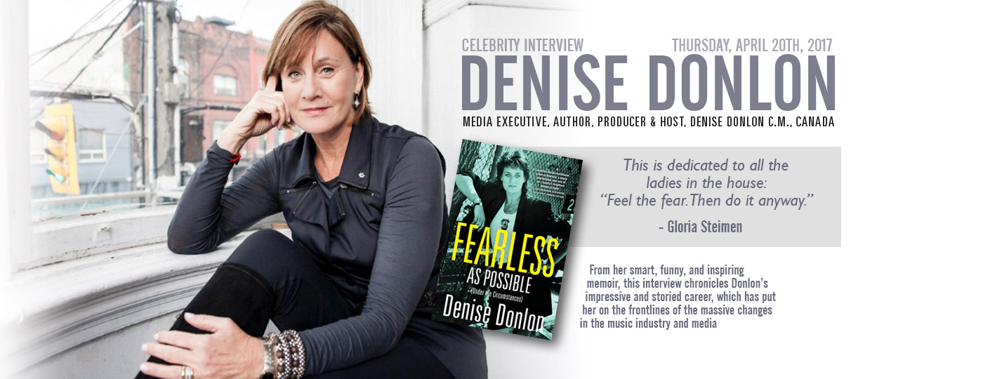 CMW Announces Celebrity Interview with Denise Donlon