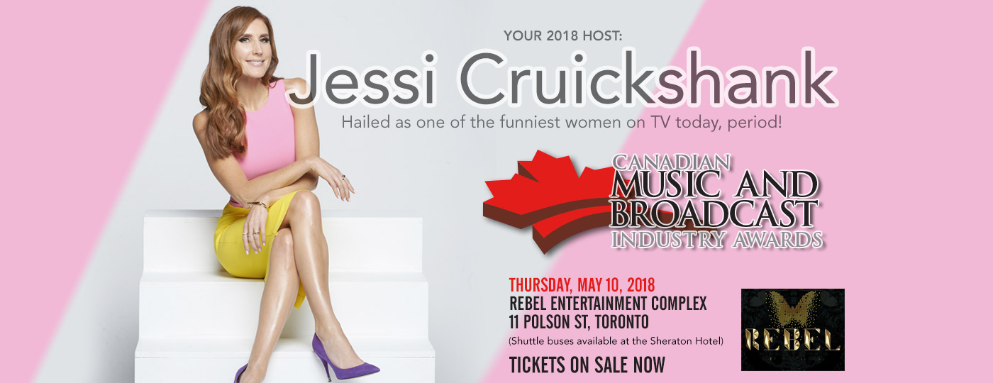 Canadian Music Week Announces Jessi Cruickshank as Host of the 2018 Canadian Music & Broadcast Industry Awards