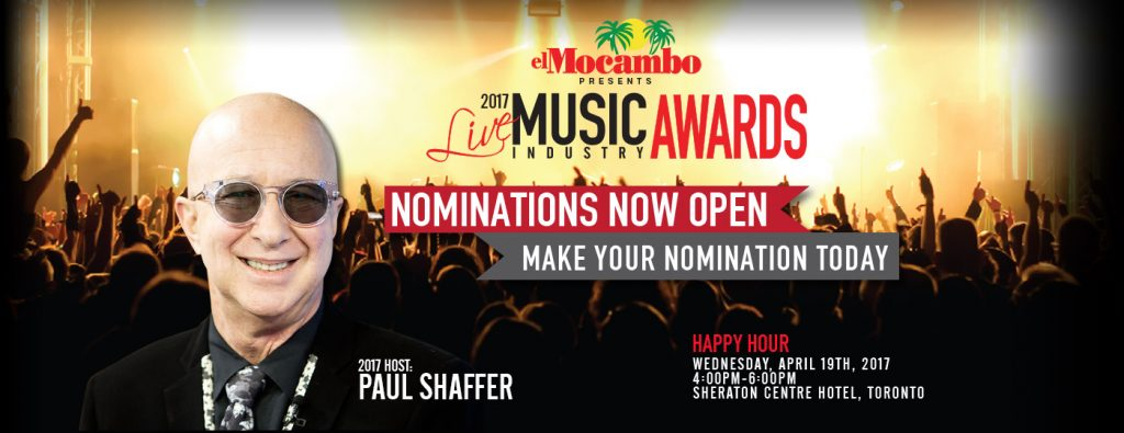 PAUL SHAFFER TO HOST THE LIVE MUSIC INDUSTRY AWARDS